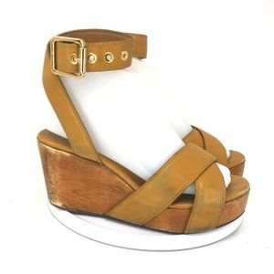 Tory Burch Women Strap Wedge Heel Sandals Size 5